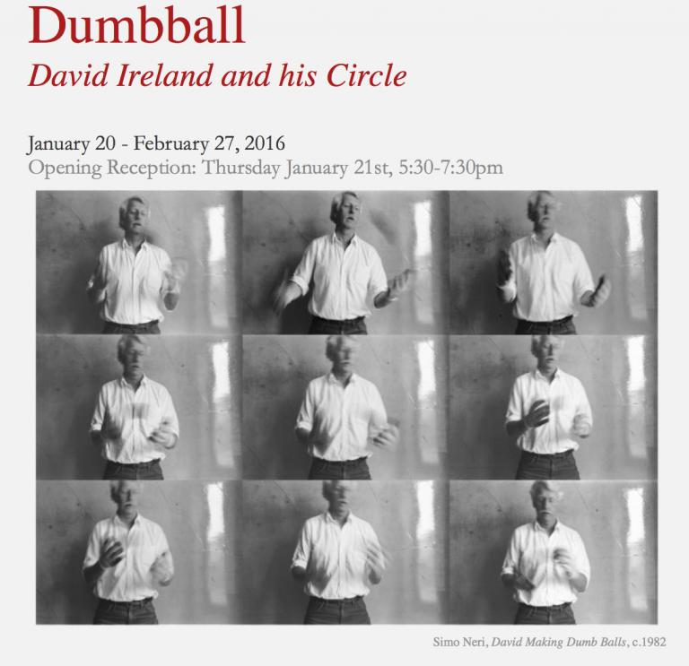 Simo Neri - DUMBBALL : David Ireland and his Circle, January 20 – February 27, 2016 - 1